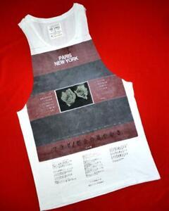 """All Saints """"Titan Raw Arm Vest"""" White Graphic T-Shirt Top Size XS"""