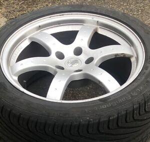 "Nissan 350z Rays 18"" alloys"