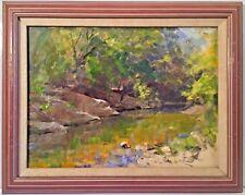 Listed Artist Allen Dean Cochran (1888-1971) Oil On Board With Provenance c.1935