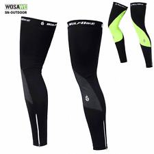 Cycling Thermal Fleece Leg Warmers MTB Bike Sports Leg Sleeve Covers Winter