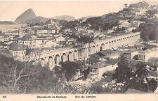 RIO DE JANEIRO BRAZIL~AQUEDUCTO da CARIOCA~A RIBEIRO #85 POSTCARD 1910s