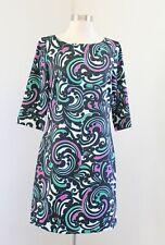 Banana Republic Womens Black Pink Green Bold Paisley Print Shift Dress Size 4