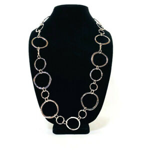 Chico's Necklace Remi Collection Silver Toned Chain Links New With Tag