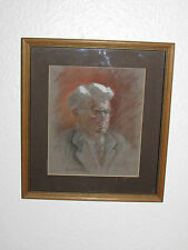 Vintage Original Crayon Painting Picture Signed - 1982