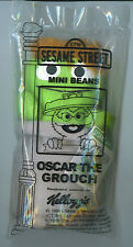 OSCAR the GROUCH SESAME STREET Mini Beans KELLOGGS cereal toy  NEW