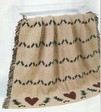 Crochet Pattern ~ CHRISTMAS IN THE COUNTRY AFGHAN ~ Instructions