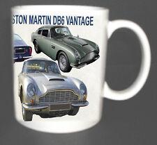 ASTON MARTIN DB6 VANTAGE CLASSIC CAR MUG LIMITED EDITION PERSONALISE FOR FREE