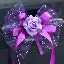 6 Pcs Wedding Car Decoration Flowers Bouquet Auto Mirror & Handle Decoration Sup