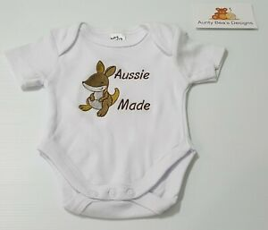 Aussie Made Baby Short Sleeve Romper