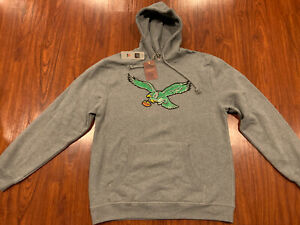Mitchell & Ness Men's Philadelphia Eagles Retro Logo Hoodie Sweatshirt 3XL XXXL