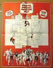 THE MARVEL MUTANT MASSACRE MAP 1986 WALTER SIMONSON ART PROMOTIONAL POSTER X-MEN