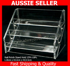 Nail Polish Stand 3 Tier Hold 15 -18 Clear Acrylic Fit OPI Polish OZ