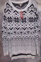 WOMENS ARIZONA PRINTED TUNIC SWEATERS GREAT FOR LEGGINGS, MULTIPLE PATTERNS NWT