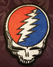 GRATEFUL DEAD PATCH STEAL YOUR FACE   JERRY GARCIA HIPPIE 60'S WOODSTOCK BIKER