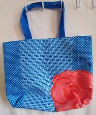 Lancome großen Blau & Orange mit Blume Beuteltasche Retail/Shopping Kasse Tasche
