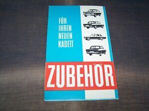 TOPRARITÄT Herrlicher Prospekt Opel Kadett Zubehör von 1967 + Preisliste !!!