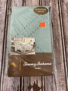 Tommy Bahama Serenity Palms European Pillow Sham Euro  Aqua Green Beach House