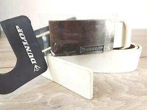 "DUNLOP Mens Golf Belt PU leather belt White Size 40""-44"" A362-27"