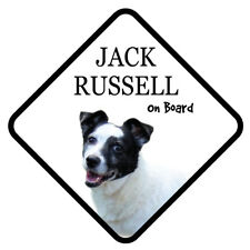 JACK RUSSELL On Board Car Sign With Sucker Dog Stickers