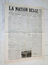 FAC-SIMILE A LA UNE JOURNAL NATION BELGE 09/12 1921 IRLANDE GUERRE INDEPENDANCE
