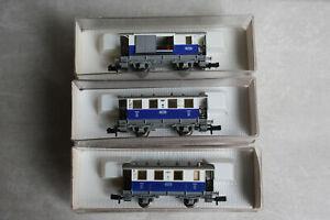 Fleischmann piccolo Wagenset 3tlg Lokalbahn Edelweiss Abteilwagen 8054 8053 OVP