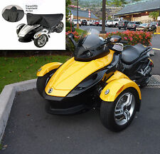 Can-Am Spyder RS Half Cover.  Heavy Duty Cover. Indoor Outdoor Cover. Black.