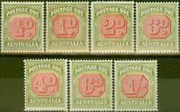 Australia 1938 P.Due set of 7 SGD112-118 Fine Lightly Mtd Mint
