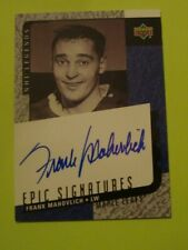 2000/01 UPPER DECK EPIC SIGNATURES FRANK MAHOVLICH AUTOGRAPH MONTREAL CANADIENS