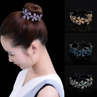 Women Girls Hair Clip Crystal Claw Ponytail Bun Holder Hair Comb Hairpin Fashion