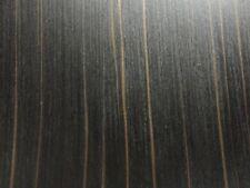 "Ebony Macassar composite wood veneer 24"" x 48"" raw no backer 1/42"" thick # 616"