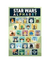 STAR WARS CLASSIC ABC ALPHABET CHARACTER MOVIE ROLLED POSTER PRINT SLOT #8