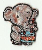écusson ECUSSON PATCHE PATCH ENFANT THERMOCOLLANT ELEPHANT 3,5 X 3 CMS