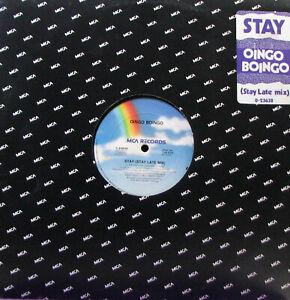 """OINGO BOINGO Stay / Dead Man's Party 12"""" Single   SirH70"""