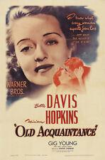 Old acquaintance Bette Davis vintage movie poster print