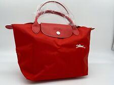AUTH NWOT Longchamp Le Pliage Club Logo Short Handle Small Nylon Tote Bag