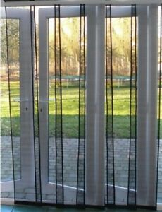 Flyscreen Panel Door 150 x 230cm Charcoal