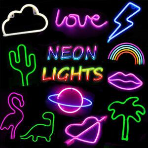 Neon Sign Light LED Wall Light Visual Art Bar Lamp Home Dorm Kids Room