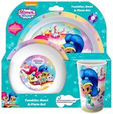 Girls Shimmer and Shine Dinner Table Set - Tumbler Bowl & Plate Children's NEW