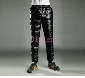 Herren 90% Daunen Hose mit hoher Taille unten Hosen Winter dicke warme Kleidung