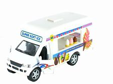 "Kinsmart Softy Ice Cream Truck diecast model with pull back & go action 5"" Long"