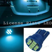 2PCS T10 8-SMD 5050 LED 8000K Ice Blue License Plate Lights Tag Bulb 2825 W5W