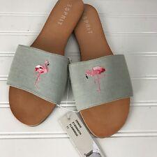 NEW Womens ESPRIT Denise Flamingo Slip On Sandals Shoes Sz 11 Greenish