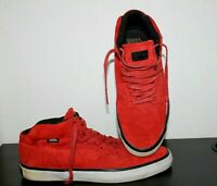 Vans OTW Mens Red Suede Mid Top Canvas Trainers Skateboard Shoes ankle EU43 UK 9