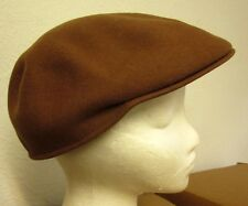 MILK CHOCOLATE newsboy hat vtg cabbie 1980s cap wool felt gatsby
