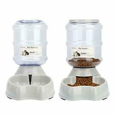 PET FOOD AUTOMATIC DISPENSER Feeding Supply Waterer For Dogs-Cats 1GL/Unit 2Pcs