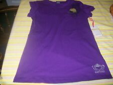 NWT Katydid Purple Peace Love Football Top Size Junior XL