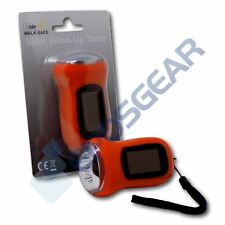 Minder Walk-Safe Solar Powered Wind-up Hand Crank Dynamo Rechargeable LED Torch