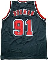 Dennis Rodman autographed signed jersey NBA Chicago Bulls PSA COA The Worm