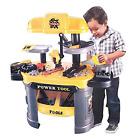 Kids Repair Tool Toy Set Workshop Playset Pretendplay Mechanic Tool Bench 62 pcs