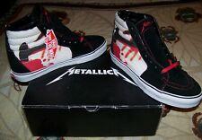 NEW Vintage METALLICA KILL EM ALL Vans SK8 Hi-Top Skateboard Skate Shoes Sz 11